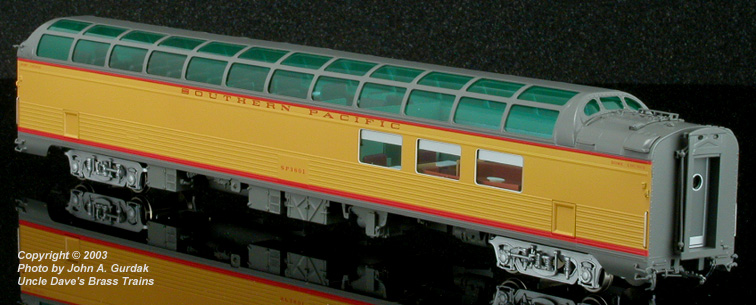 Coach Yard 1177.1 - Dome-Lounge (lightweight), Class 83-DL-1, SOUTHERN PACIFIC, 'OVERLAND', gray-yellow, No.3601.02