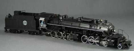 DVP 0001 - DM+IR M1-S, 2-8-8-2, slant cab, Worthing FWH, black, No.208.x1