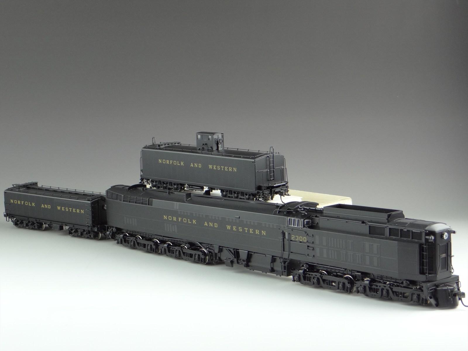 Division Point DP-0810 - NORFOLK & WESTERN, 6-6-6-6, Steam Turbine - Jawn Henry.2 w. aux. tender.11