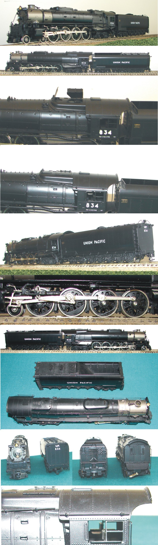 Key 059 - UP FEF-2 4-8-4, black, UP No.834, coasting drive