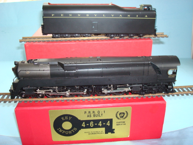 Key 118 - PRR Q-1, 4-6-4-4, as buildt, full skirting AS DELIVERED version, 110 made, No.6130.01 ($ 2.395,-- Apr-08)