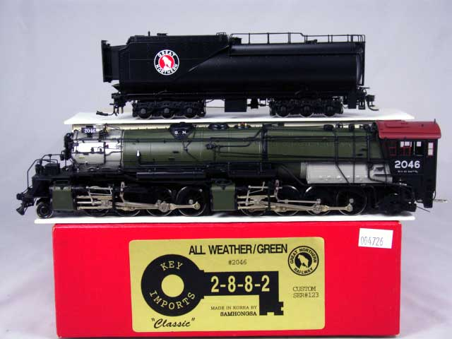 Key 123 - GN Class R-2, 2-8-8-2, All Weather Cab, Glacier Park paint scheme, 1999 Import, No.2046.01