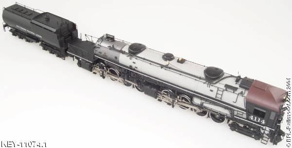 Key 126 - SP AC-5, flat-facecab, gray boiler, early SP Nr. 4114, Custom Series 126, (2000 run).01