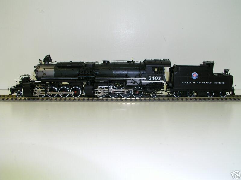 Key - L-95, 2-8-8-2, D&RGW, rectang. tender, prewar, green, smallRG , Benchmark Serie 1999, No.3407.01