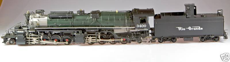 Key - L-96, 2-8-8-2, D&RGW, rectang. tender, post war, green, flying RG Herald, Benchmark Serie 1999, No.3400.6