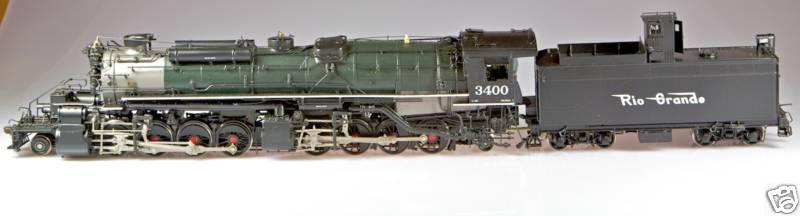 Key - L-96, 2-8-8-2, D&RGW, rectang. tender, post war, green, flying RG Herald, Benchmark Serie 1999, No.3400.6