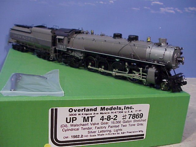 Overland 1562.2 - MT4-8-2 Oil, 15,000 Gl Cyl. Tender, Two Tone Gray, silver let., Union Pacific, No.7869.01