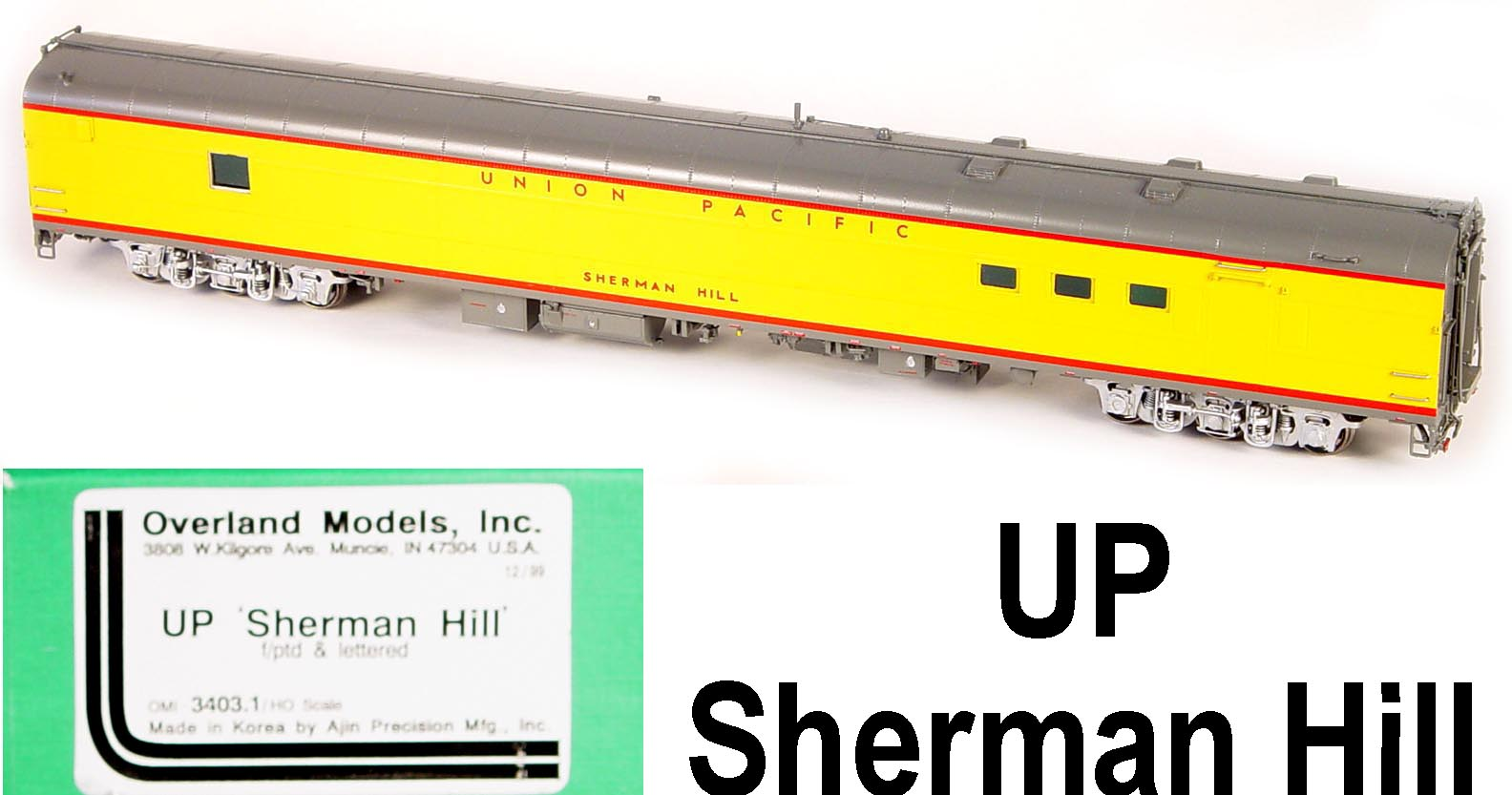 Overland 3403.1 - UP Modern Executive Baggage Car 'Sherman Hill'.01