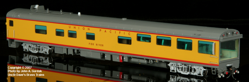 Overland 3461.1 - UP Modern Executive Track Inspection Car 'Fox River'.1