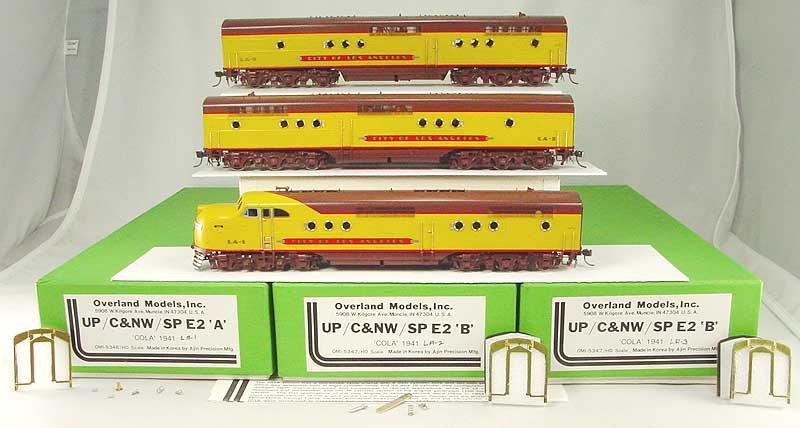 Overland 5346 - 5347 - Union Pacific E2A u. E2B, E2B City of Los Angeles LA-1, LA-2, LA-3.01 Box