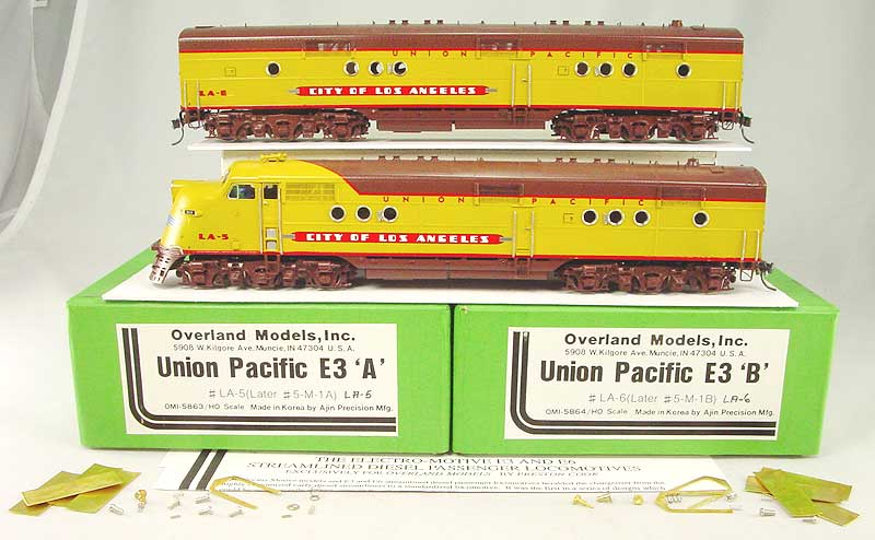 Overland 5863 - 5864 - Union Pacific E3A u. E3B City of Los Angeles LA-5 u. LA-6.01 Box