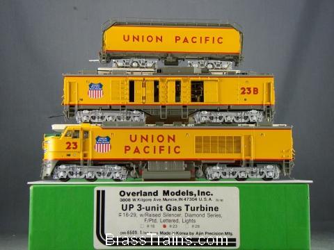 Overland 6509.1- UNION PACIFIC 3-unit GAS TURBINE, Diamond Series, Nr.23.20 box