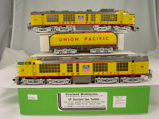 Overland 6708.1 - UNION PACIFIC 2-unit STANDARD GAS TURBINEs Nos.59,60 w Turbine Tender for joint operating. 1997 Run.A1