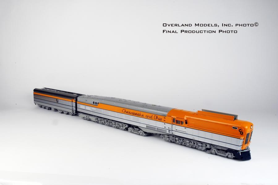 Overland AD-1107 - C&O M-1 Steam Turbine, FP Red-Orange-Aluminum-Light Gray-Blue.1