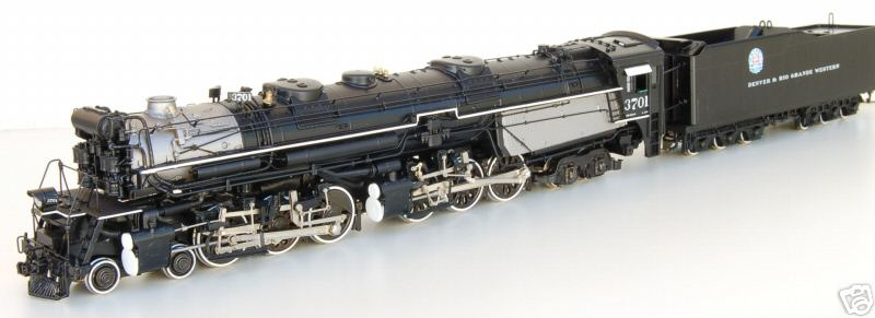 PSC 15352-1 - L105, 4-6-6-4, D&RGW, as delivered, black, No. 3701.03