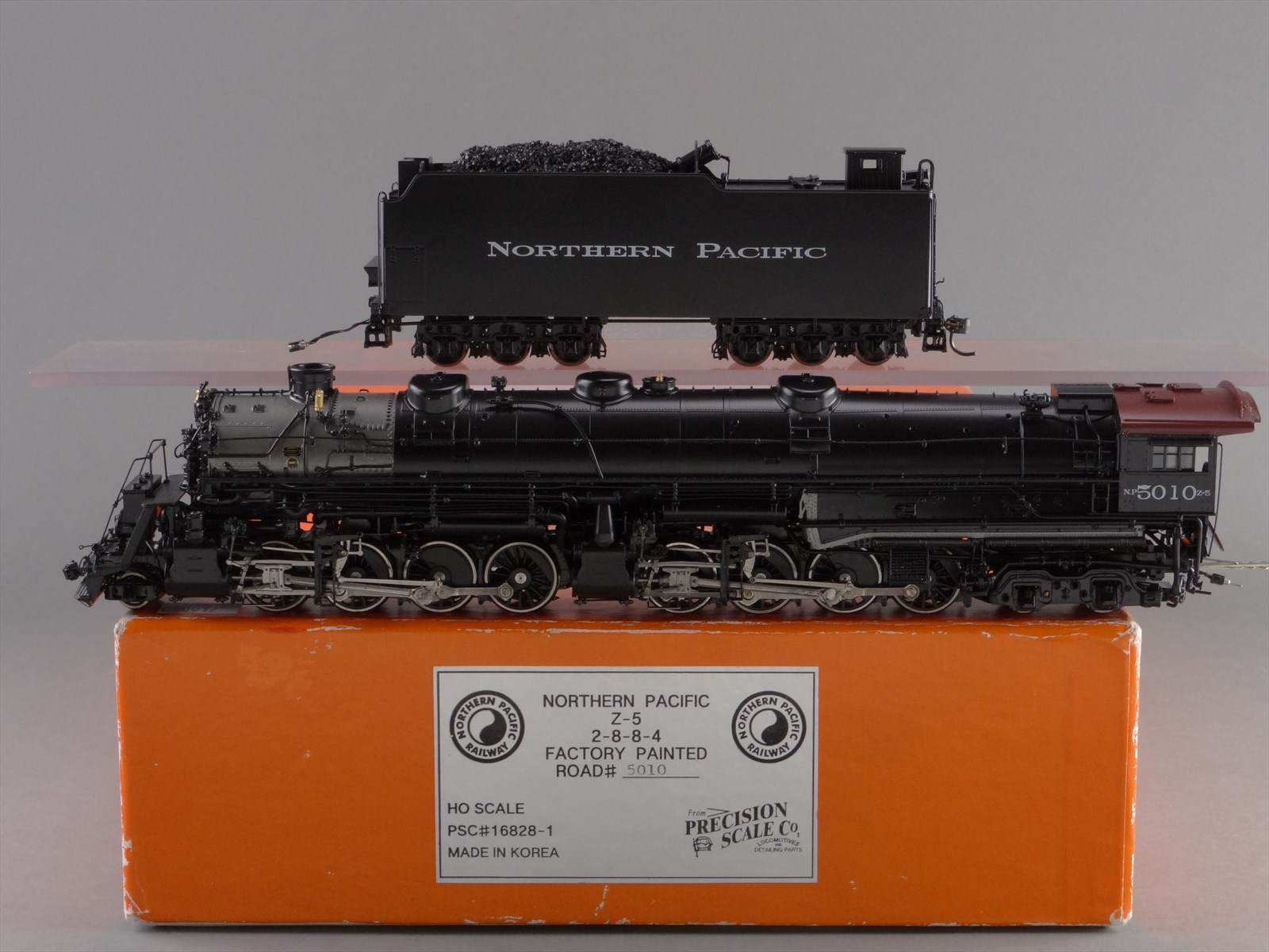 PSC 16828-1 - NP Z-5 - Northern Pacific, 2-8-8-4, Yellowstone No.5010 - Black Boiler.10 BOX