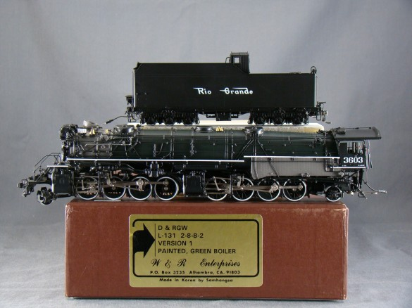 W&R - L-131, 2-8-8-2, D&RGW, Version 1, green boiler, No.3603, open cab, 56 made 1996 SAMHONGSA.01