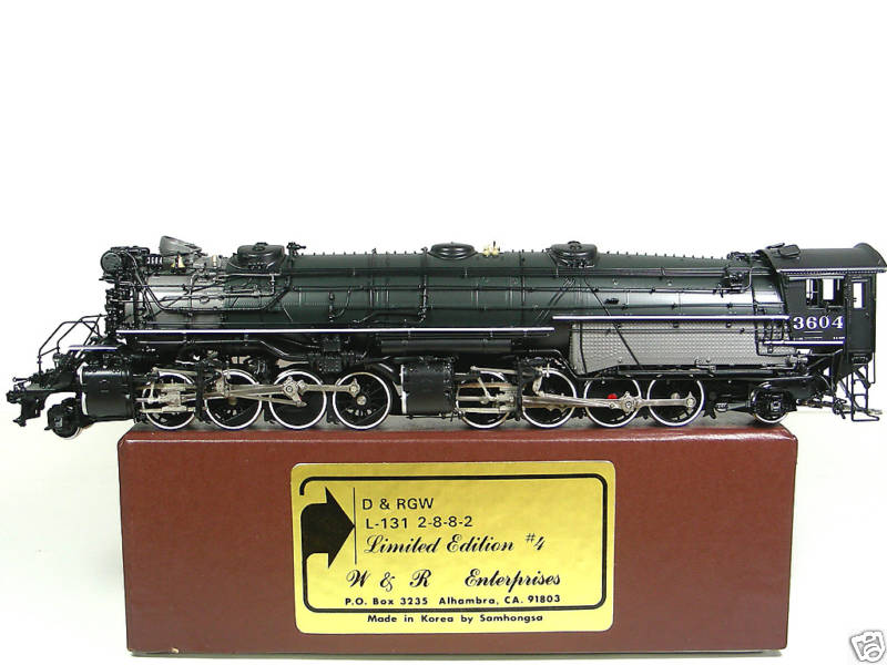W&R - L-131, 2-8-8-2, D&RGW, Version 1, green boiler, No.3604, Ltd Edition No.4, 40 made.22