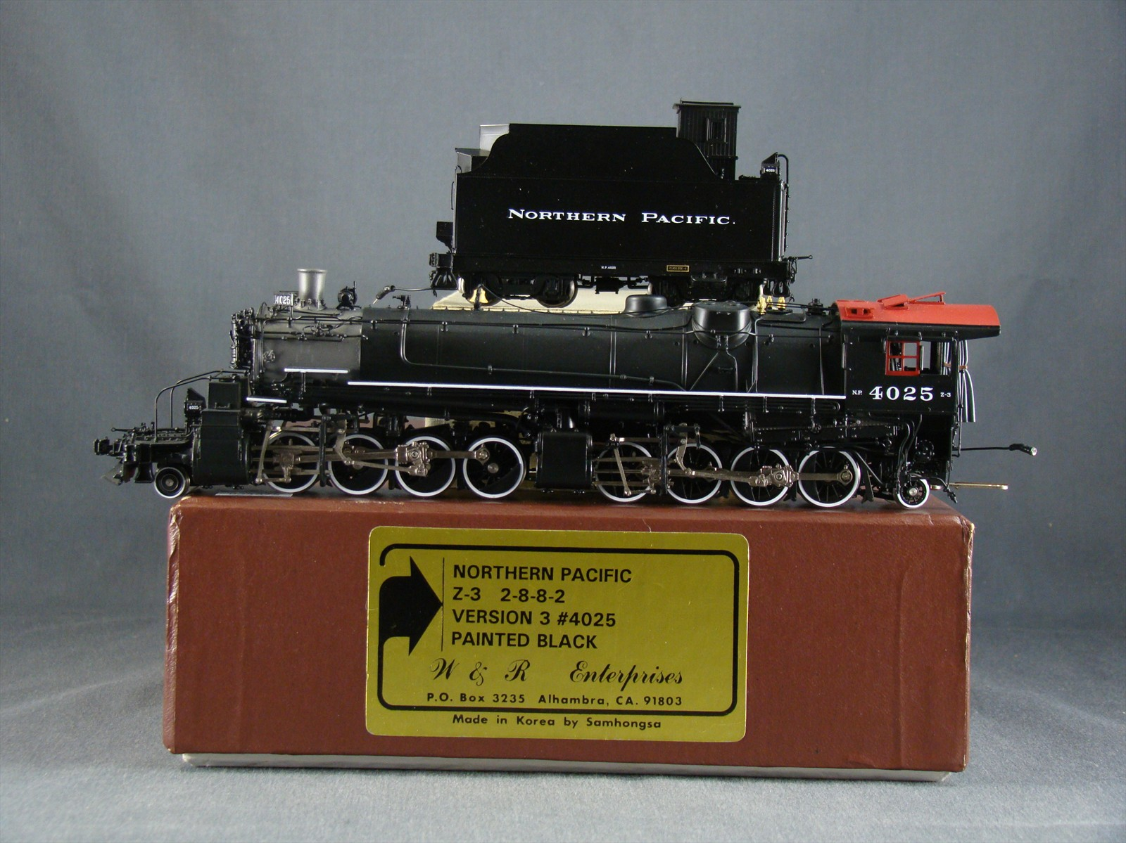 W&R NP Z-3 - Northern Pacific, 2-8-8-2, Version 3, No.4025, Black .10 Box