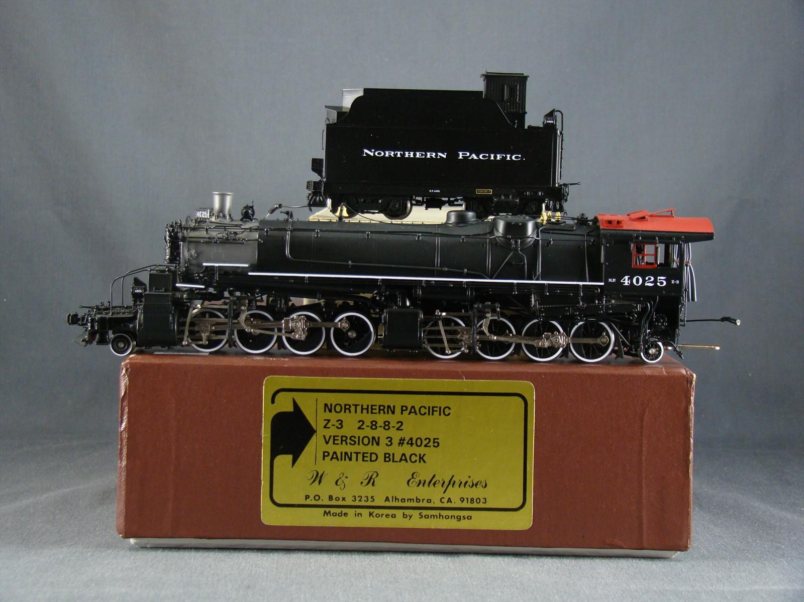 W&R NP Z-3 - Northern Pacific, 2-8-8-2, Version 3, No.4025, Black .10 Box