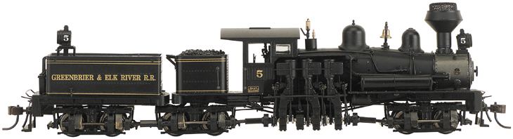 Bachmann-Spectrum 81903 - Shay, 80-Ton Three-Truck, GREENBRIER & ELK RIVER, Wood Cab, Konel Smoke Stak, Nr.5.1