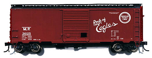 Branchline 1509 - Box car, 8' door, 1956, Late Improved Dreadnaught Youngstown Diagonal Panel