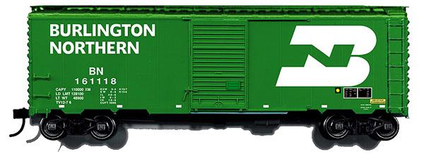 Branchline 9005 - Box Car, AAR 40, 6' door, green, large BN Logo on right, ex CB&Q, as they appeared in the 1970's, BN