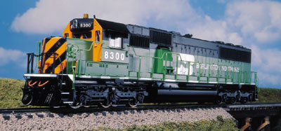 Life Like 23481 - SD 60 - 1st run - BURLINGTON NORTHERN, green, orange-black front, Nr. 8300.1