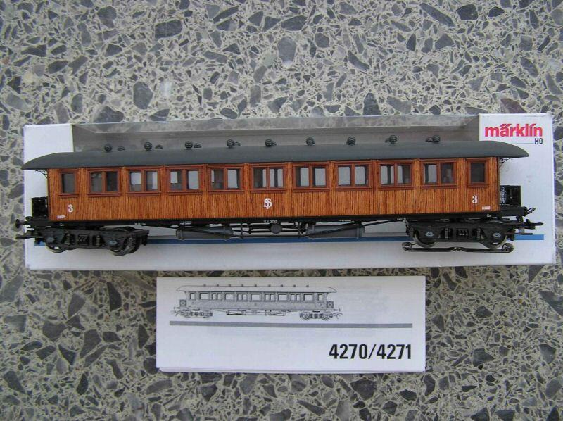Maerklin 4270 - C 05a, Schwedischer Schnellzugwagen, Holz, Sonderserie 1989.1