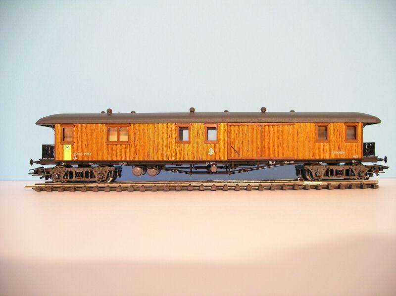 Maerklin 4271 - DF 01, vierachs. schwed. Postwagen, Holzaufbau, SOS 1989.1
