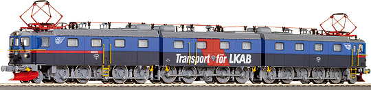 Roco 63755 - Dm3, 3-teilige E-Lok, Erzbahn, blau-grau, 'Transport foer LKAB', SJ.1