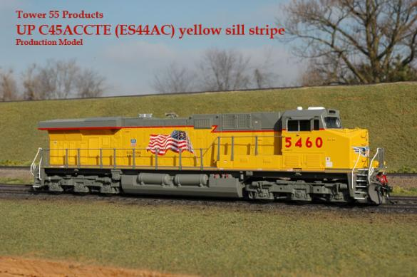 Tower55 EA-0011-1 - ES44AC Union Pacific, yellow sill No.5460.1