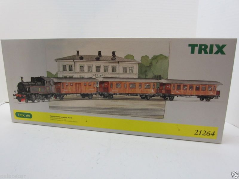 Trix 21264 - Schwedischer Holzzug - Dampflok + 3 Wagen