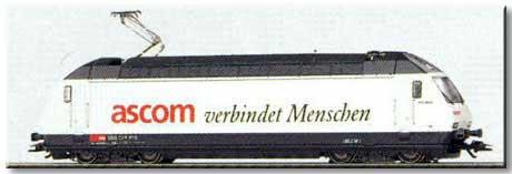 Trix 22582 - SOS 1997, SBB, weiss, 'ascom verbindet Menschen'
