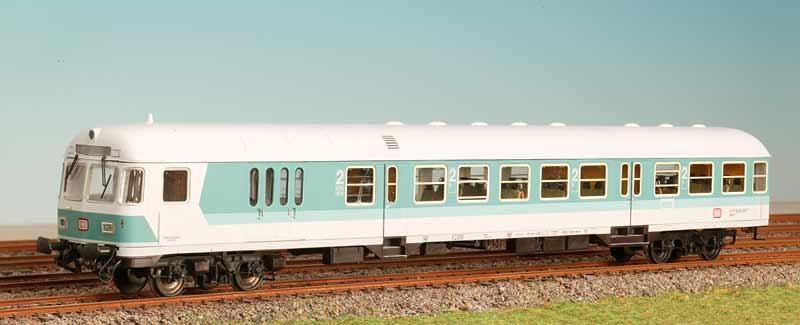 ADE 3429-6 - Steuerwagen BDnrzf 784.2, tuerkis-beige, Epoche 4
