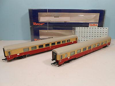 Roco 45914 - 2-tlg. Set TEE-Wagen, FS, Großraum-, Abteilwagen, Ep 4