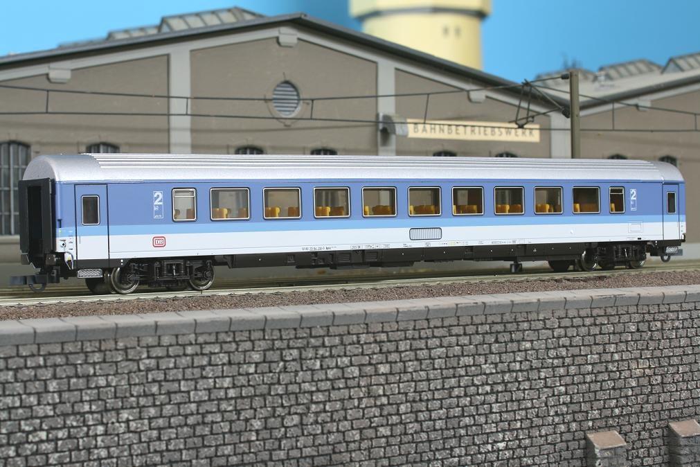 Roco 44795 - Bpmz 293.2 (295), 2. Klasse, blau-lichtgrau, DB-Keks