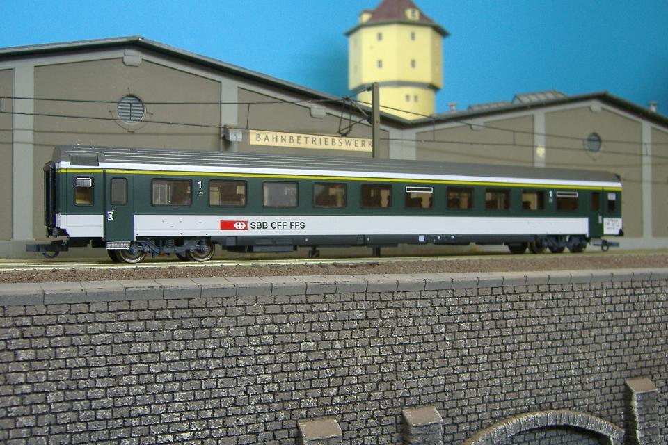 Roco 44883 - EW IV, 1. Klasse, gruen-grau, SBB.1