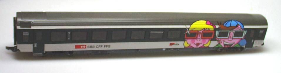 Roco 44891 - EW IV, SBB, Familienwagen, Kindergesichter links