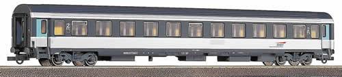 Roco 45113 - Vu B11, SNCF, CORAIL, 2. Kl. Abteilwg. grau-weiss, zureuckgesetzte Tueren in gruen, neuer SNCF LOGO