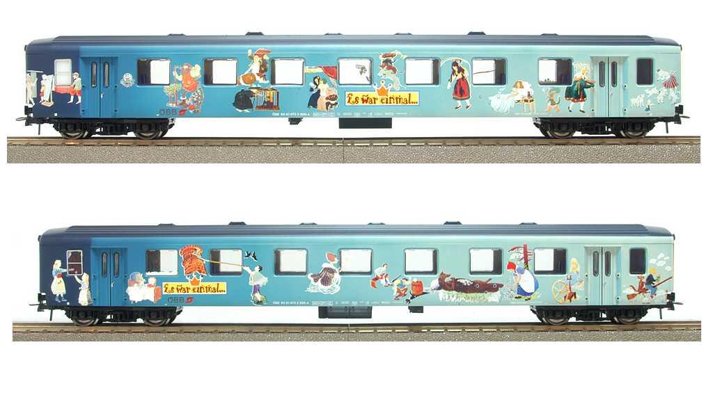 Roco 45128 - SOS OESTERREICH, Schlierenwagen 1. Kl., blau mit Maerchenfiguren 'Es was einmal..'.3