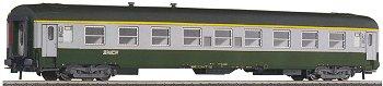 Roco 45200 - A9, SNCF, UIC-Y, 1. Kl., gruen-grau, genietete Alu-Fensterrahmen, Flachdach, 'Spaghetti-Logo'