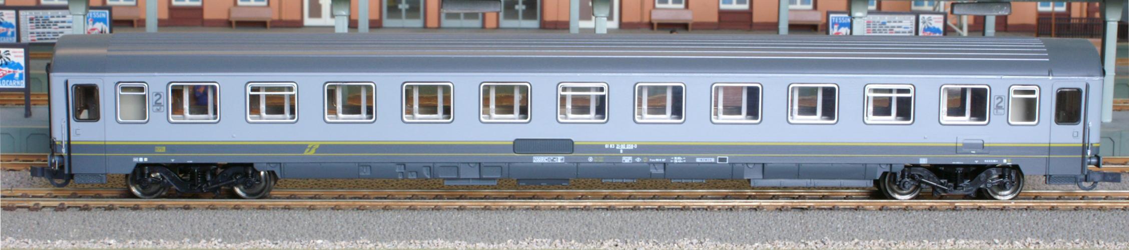 Roco 45221 - FS EURFIMA B-Wagen in alter Farbgebung, hellgraudunkelgrau, altes FS-LOGO.1