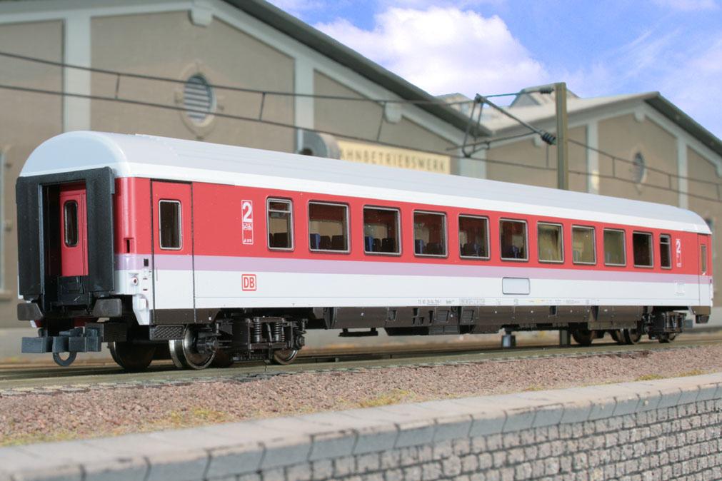 Roco 45249 - 293.6 Bpmbz, IC Farbgebung, 2. Kl. Grossraumwagen, NICHT Druckfest, Dach silber, DB AG-Keks