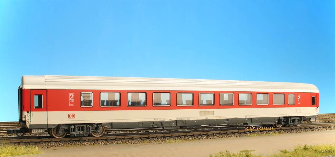 Roco 45270 - Bpmbz 291, IC Verkehrsrot, 2. Kl. Grossraumwagen, DRUCKERTUECHTIGT, DB AG-Keks