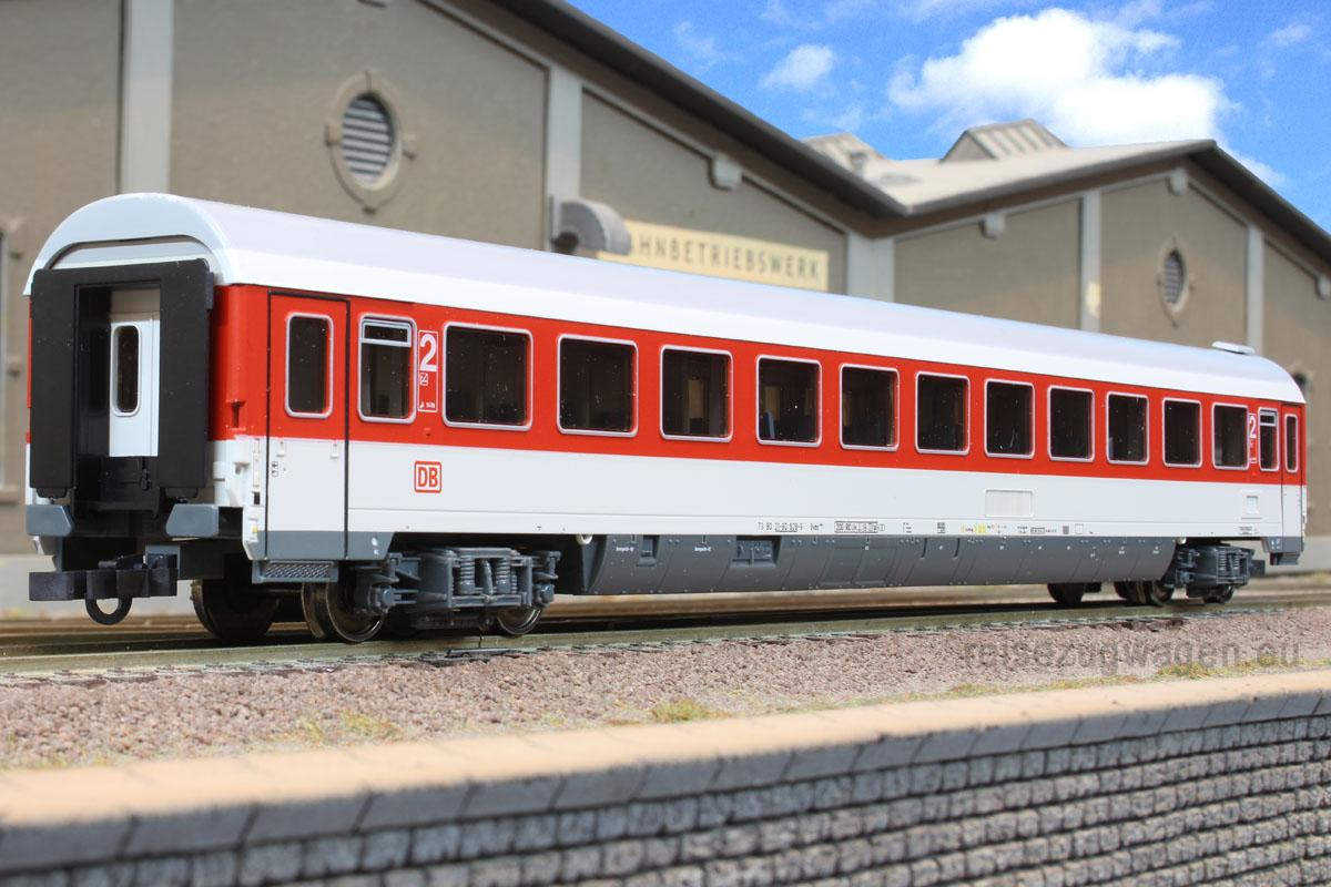 Roco 45271 - Bvmz 185.3, IC Verkehrsrot, 2. Kl. Grossraum-Abteilwagen, DRUCKERTUECHTIGT