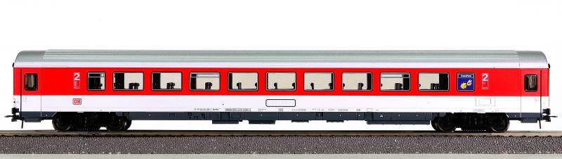 Roco 45273 - 291.8 Bpmbkz, IC Verkehrsrot, 2. Klasse Grossraumwagen mit Snack-Point, DB AG-Keks