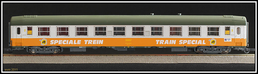 SNCF, UIC-Y, SOS 1995, Liegewagen 2.-Klasse, Reisebuero 'FTS'