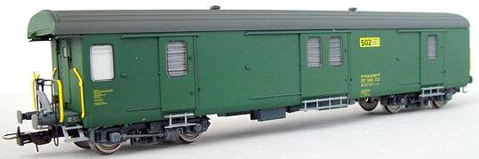 RailTop 31701 - Postwagen Z4 501-540 grün der Schweizerischen Post Ep V.1