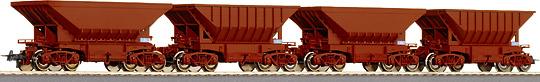 ROCO 45971 - Schweden, Erzwagen Typ Uad & Uadp, Set 4 Wagen, Neu 20.., LüP ... mm